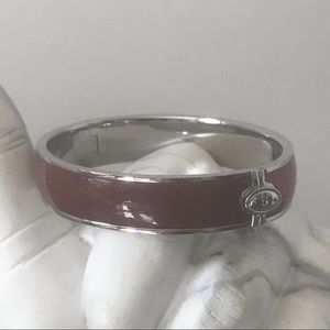 Fossil red modern bangle bracelet